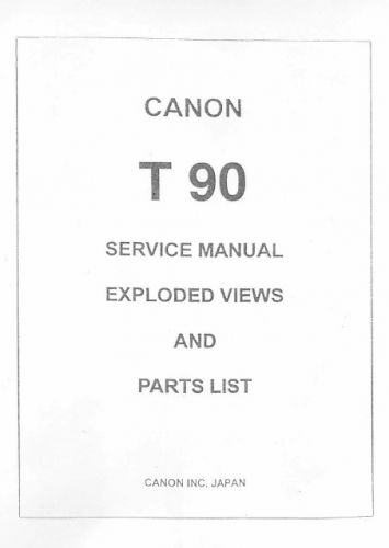 Canon t90 service manual pdf download.